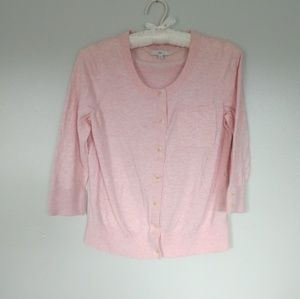 GAP pink button up cardigan size M